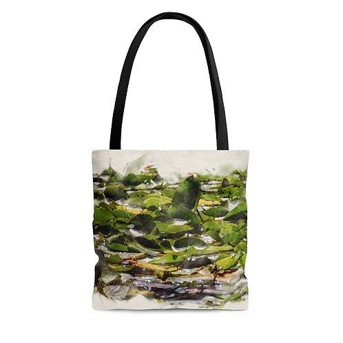 Lily Pads Watercolor Tote Bag