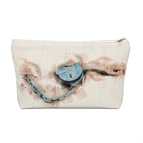 Lock Watercolor Accessory Pouch w T-bottom