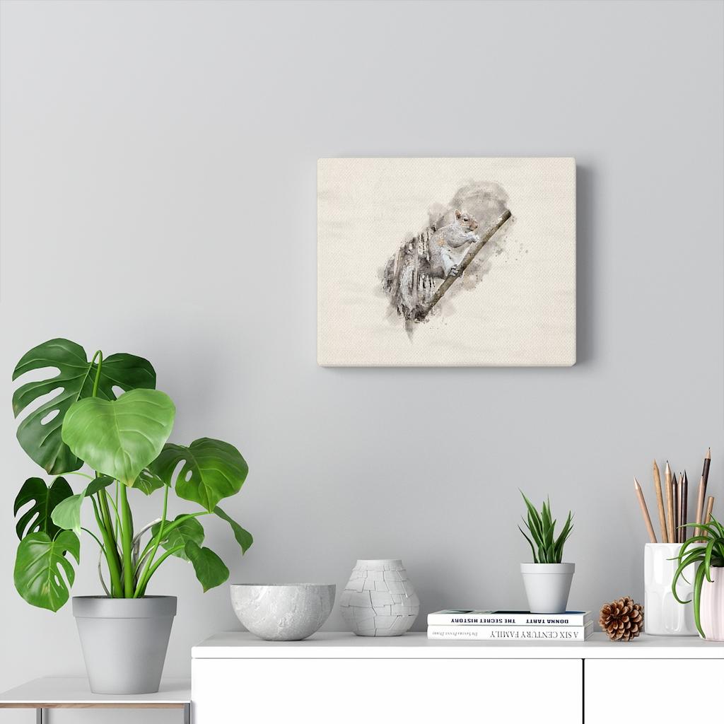 squirrel-eating-watercolor-canvas-10-x-8