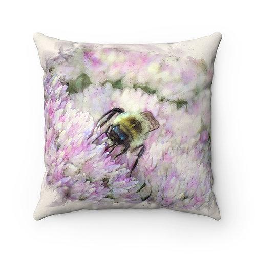 Bumblebee Watercolor Pillow