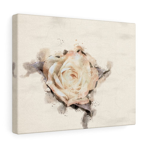 Yellow Rose Watercolor Canvas