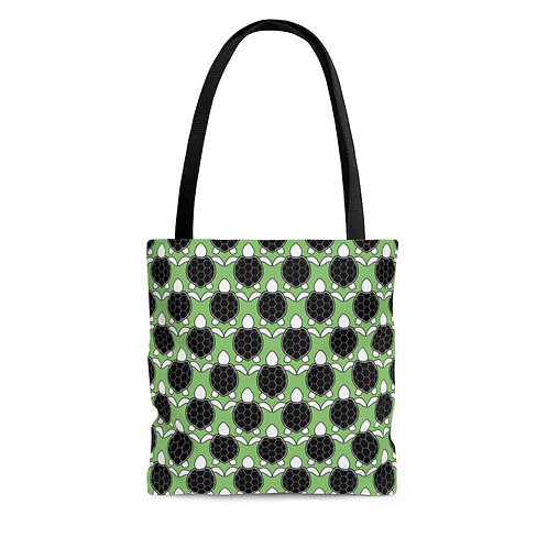 Black and White Turtle Pattern Tote Bag