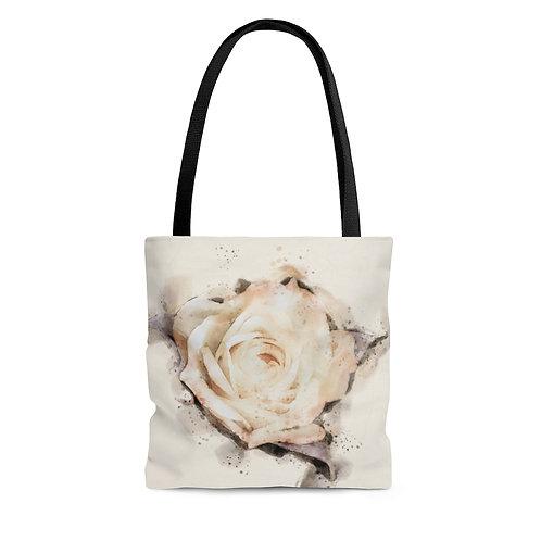 Yellow Rose Watercolor Tote Bag