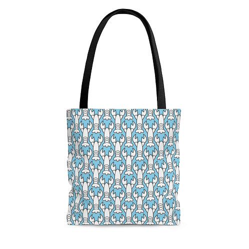 Black and White Lobster Pattern Tote Bag