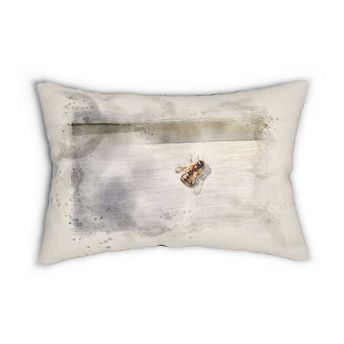 "Honeybee Watercolor 14"" x 20"" Pillow"