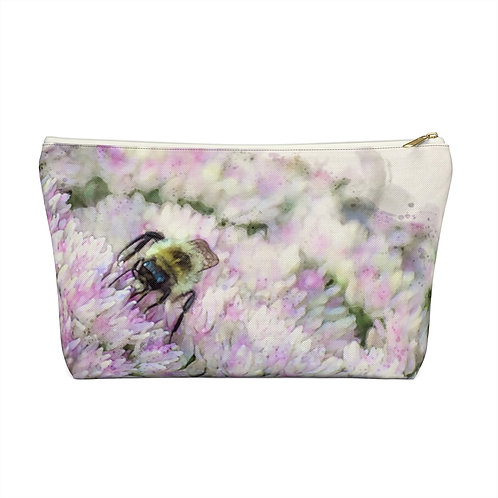Bumblebee Watercolor Accessory Pouch w T-bottom