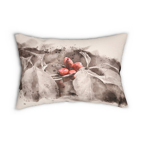 "Berry Watercolor 14"" x 20"" Pillow"