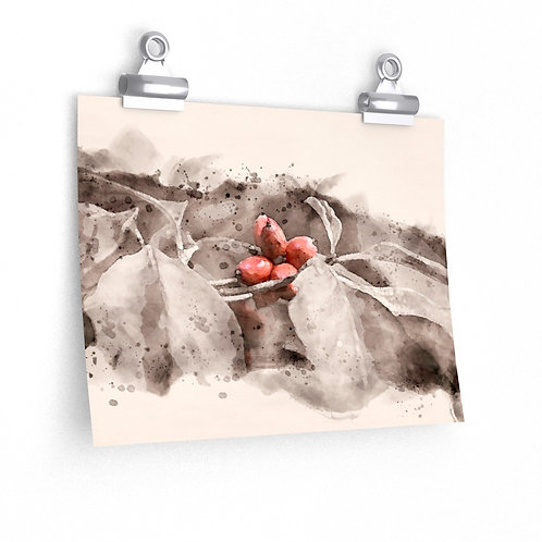 Berry Watercolor Print