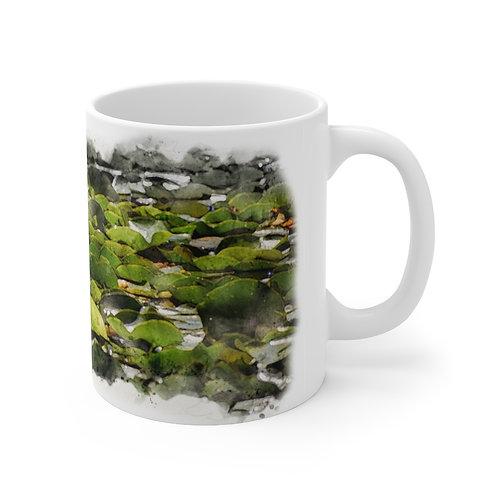 Lily Pads Watercolor Ceramic Mug 11oz