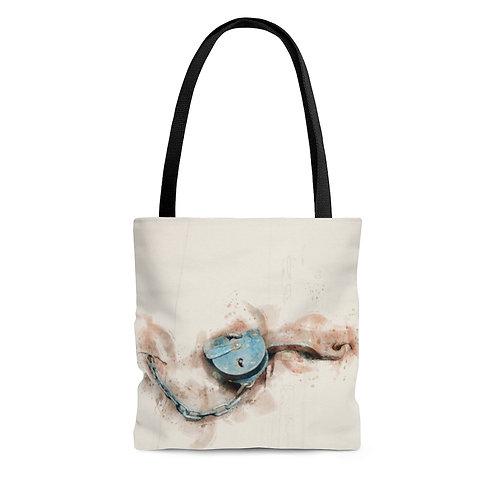 Lock Watercolor Tote Bag