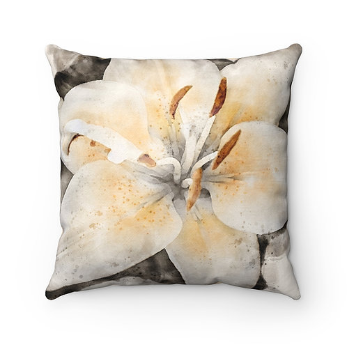 Lily Watercolor Pillow