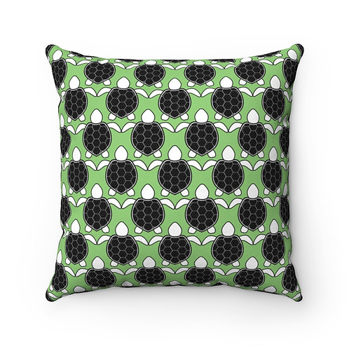 Black and White Turtle Pattern Pillow