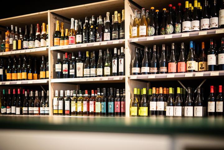 Große Wein-Auswahl