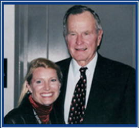 President Bush, Dr. Diane Dike President, Nonprofit Outreach Second Chance with Saving Grace