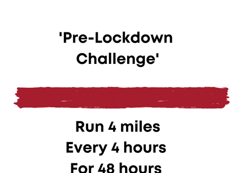 Running 4 miles every 4 hours for 48 hours