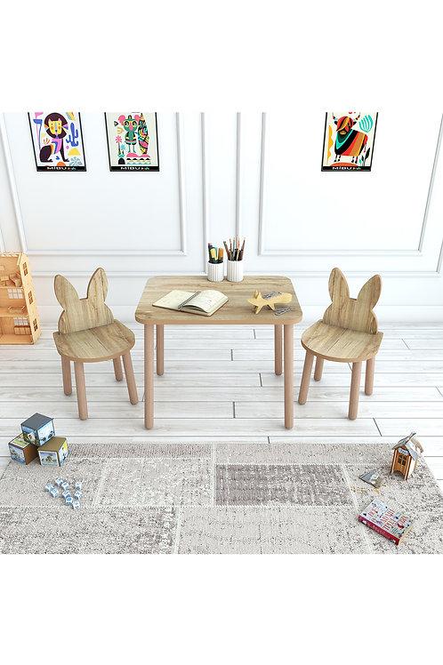 Çocuk Masa Sandalye Takımı 2 Sandalyeli