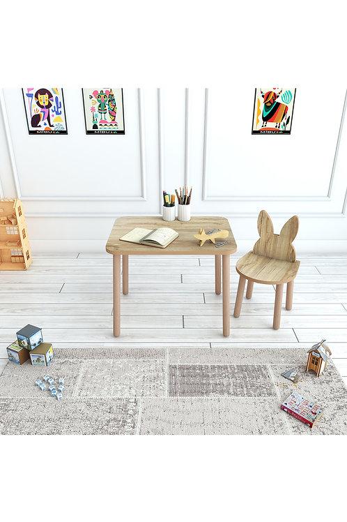 Çocuk Masa Sandalye Takımı 1 Sandalyeli