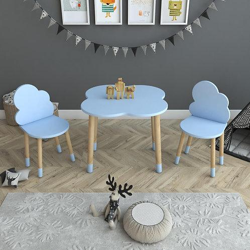 Bulut Masa ve 2 Adet Sandalye Çocuk Masa Takımı