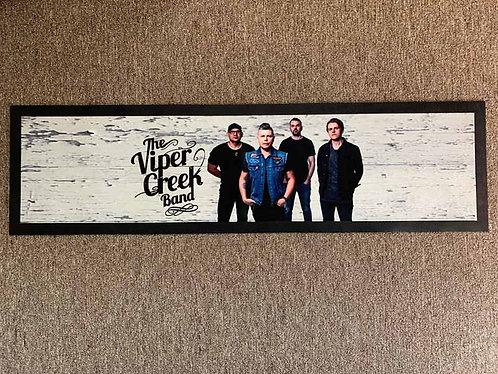 Bar Mat with Viper Creek Band Photo