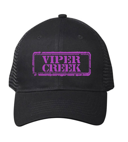 Cap with Purple Embroidered Logo