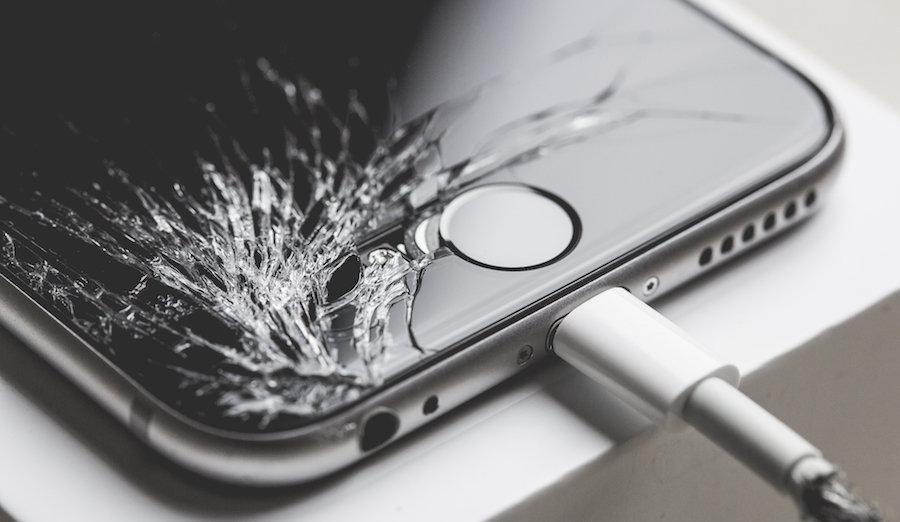 image iphone 6 cassé
