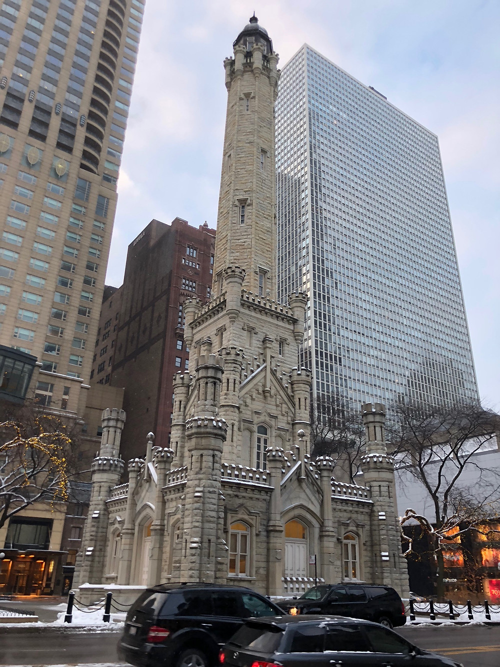 Picture of down town Chicago's old water tower