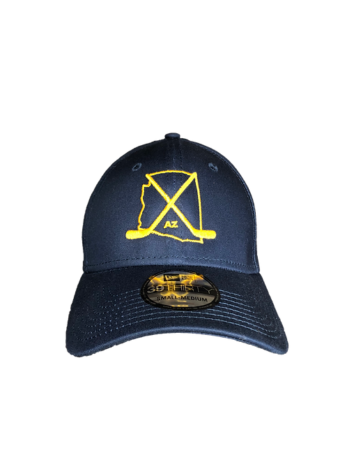 Arizona Navy/Yellow Fitted Curved