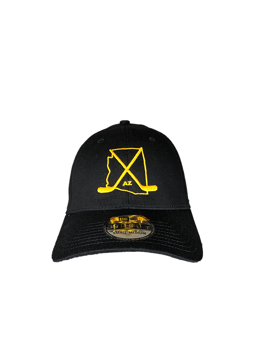 Arizona Black/Yellow Fitted Curved