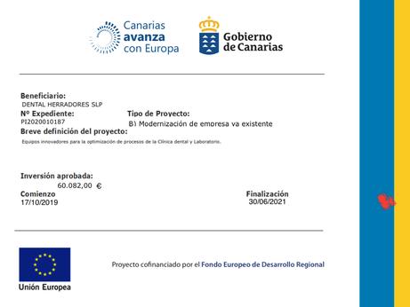 Subvención Europea para la optimización de procesos.