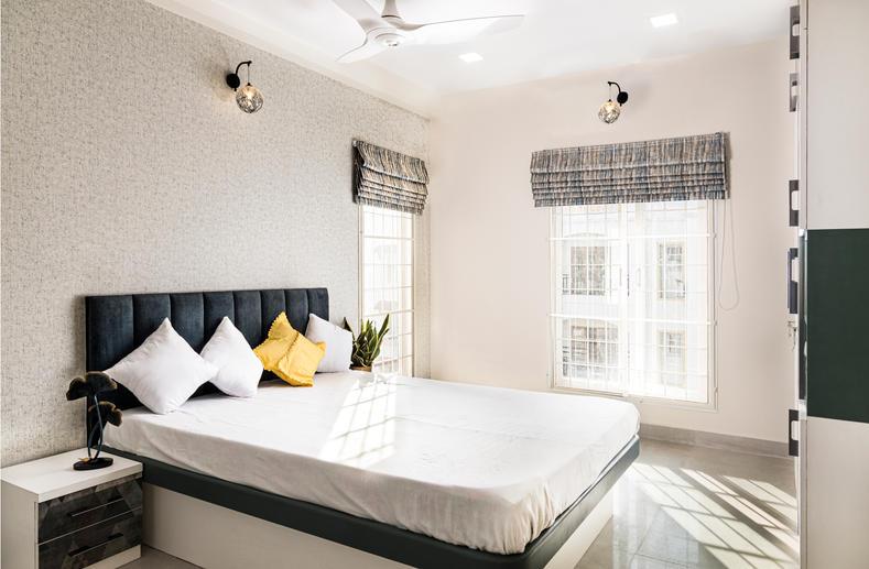 Bedroom image shot by Behlah Barbhaya shot for Brick by Brick