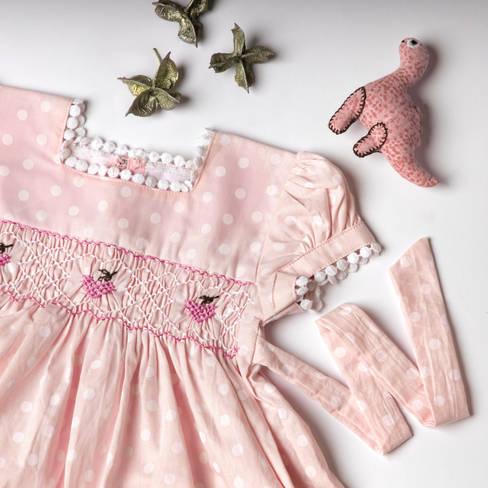 Pink dress detail shot