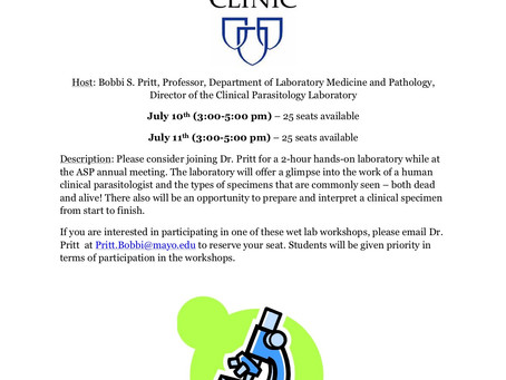 Clinical Parasitology Wet Lab Workshop