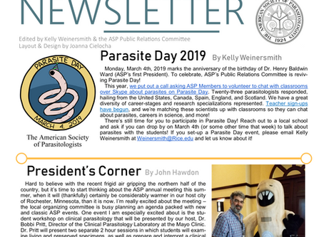 ASP's Spring 2019 Newsletter is Now Available
