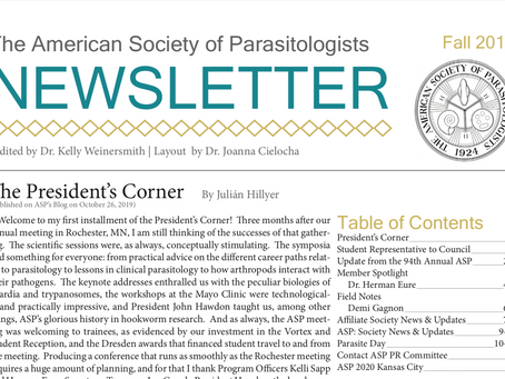 ASP's Fall 2019 Newsletter is Now Available