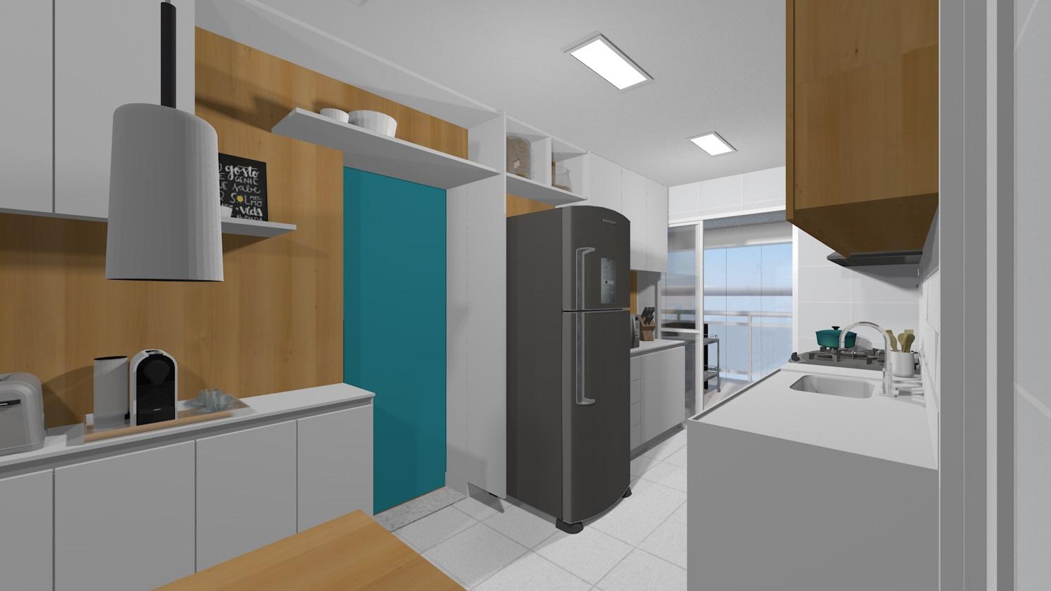 Apto148 19 cozinha e copa