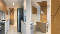 Cozinha e copa branca e madeira 2