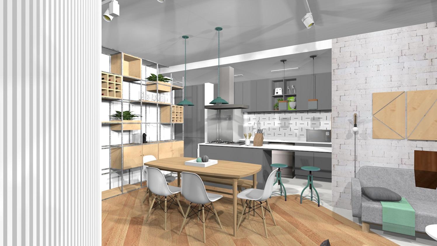 Ap88 30 sala e cozinha