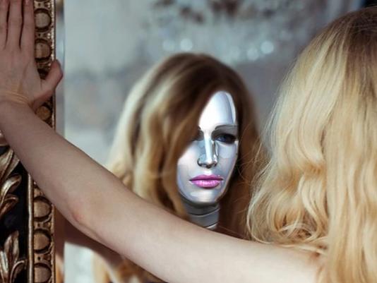 Miroir connecté magique
