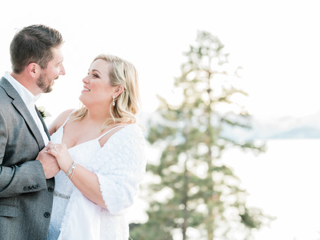 Sunset Elopement at the Ski Run Marina in South Lake Tahoe, CA