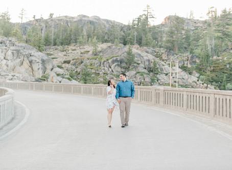 Angeli & David | Fun Engagement Session at Donner Lake, CA