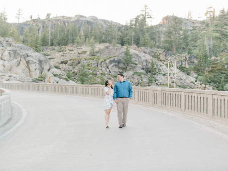 Angeli & David | Fun Engagement Session at Donner Lake, CA
