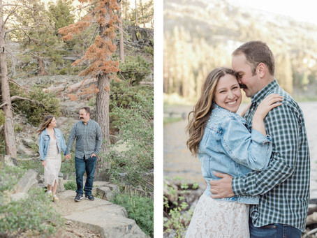 Alex and Mike   Fallen Leaf Lake Sunset Engagement Session   South Lake Tahoe, CA