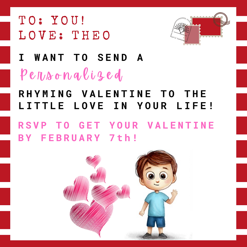 Get Your Personalized Rhyming Valentine!