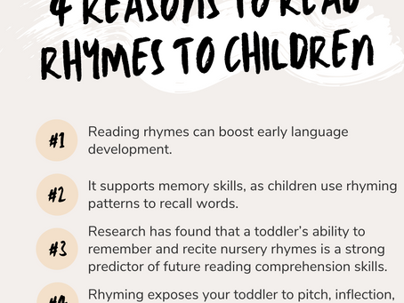 Benefits of Reading Rhymes to Children