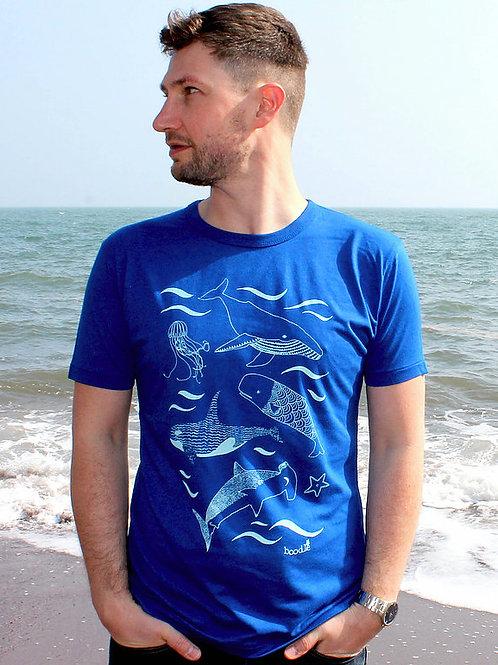 Men's Blue 'Under The Sea' T Shirt