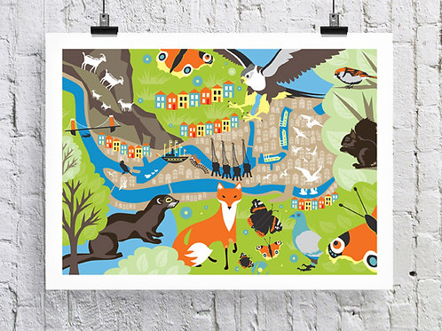 Bristol Wildlife Print