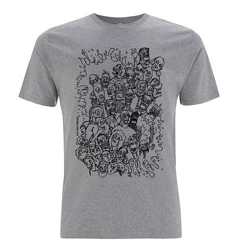 Men's Grey Zombies T Shirt