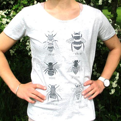 Women's Grey Bee T Shirt