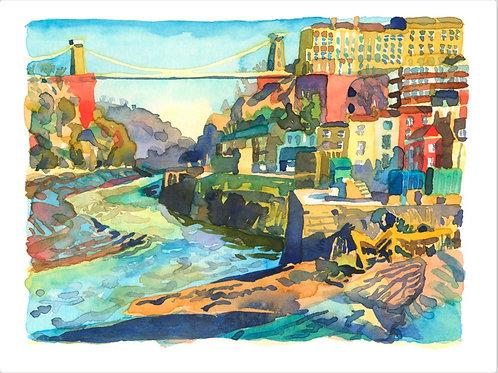 'Morning Light Avon Gorge' Print