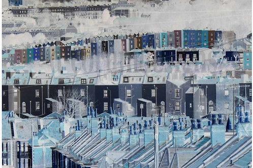 'Looking North, Blue' Bristol Plaque